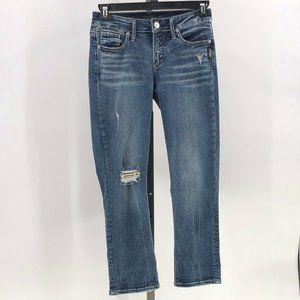 Silver Jeans Elyse capri jeans distressed sz 26